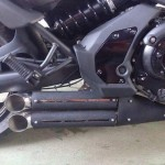 Alternatif double muffler (foto: AK Industries)